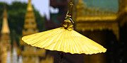 Rangoon Prints - Golden Umbrella Shwedagon Pagoda Yangon Myanmar Print by ArtPhoto-Ralph A  Ledergerber-Photography