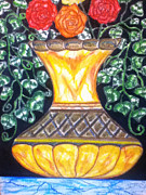 Vase Pastels - Golden Vase by LeWanda Laboy