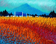 Poppies Field Painting Originals - Golden Wheat Field by John  Nolan