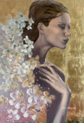 Live Art Posters - Golden wind Poster by Dorina  Costras