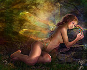 Figurative Photo Prints - Golden Wings Print by Drazenka Kimpel