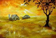 Serenity Landscapes Paintings - Golden  Years  by Shasta Eone