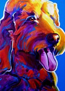 Alicia Vannoy Call Prints - Goldendoodle - Dawny Print by Alicia VanNoy Call