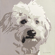 Roberts Framed Prints - Goldendoodle Framed Print by Slade Roberts