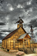 Mining Town Prints - Goldfield Ghost Town - Church on the Mount Print by Saija  Lehtonen