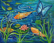 Yolanda Rodriguez - GoldFish and Butterfly