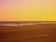 Evening Scenes Photos - Goldlen Shore at Isle of Palms by Kendall Kessler