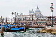 Ferry Photos - Goldola Station in Venice by Susan  Schmitz