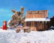 Ice Painting Posters - GoldPoint-Nevada Poster by Guido Borelli