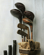 Golf Photos Framed Prints - Golf Bag with Clubs Framed Print by Krasimir Tolev