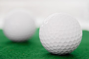 Round Of Golf Prints - Golf Balls Print by Vizual Studio