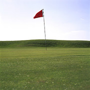 Golf Flag Prints - Golf Print by Bernard Jaubert