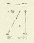 Golf Drawings Posters - Golf Club 1897 Patent Art Poster by Prior Art Design