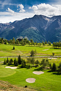 Golf Green Framed Prints - Golf Course Riederalp Valais Swiss Alps Switzerland Framed Print by Matthias Hauser