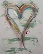 Playing Golf Prints - Golf Heart Print by Marian Palucci