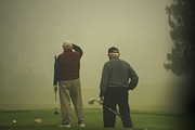 Sports Pyrography Metal Prints - GOLF in a Fog Metal Print by Max  Greene