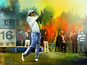 Sports Mixed Media - Golf in Gut Laerchehof Germany 01 by Miki De Goodaboom
