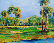 Sarasota Painting Posters - Golf in the Tropics Poster by Lou Ann Bagnall
