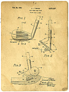 Clubs Framed Prints - Golf Sand Wedge Patent Framed Print by Edward Fielding