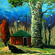 Van Gogh Painting Originals - Golf Shed series No 17 by Charlie Spear