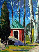 Outbuildings Painting Framed Prints - Golf Shed series No.12 Framed Print by Charlie Spear