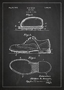 Golf Shoe Patent Drawing From 1931 Print by Aged Pixel