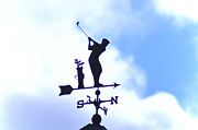 Weather Vane Prints - Golf Weather Vane Print by Bill Cannon