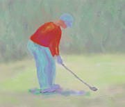 Canadian Sports Artist Prints - Golfer Print by Arlene Babad