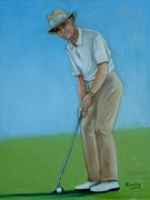 Club Pastels Framed Prints - Golfer Framed Print by Pat Neely