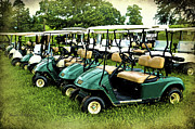 Cart Driving Posters - Golfers Take Your Pick Poster by Sandi OReilly