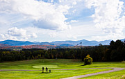 Lake Placid Ny Photo Posters - Golfing Paradise Poster by Kathy Hutchings