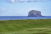 Golf Flag Posters - Golfing with Bass Rock Poster by Jason Politte