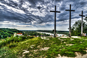 Kazimierz Art - Golgotha - mountain of three crosses by Piotr Gozdek