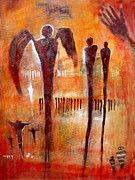 Golgotha Petroglyph Print by Derrick Higgins