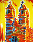 Evangelical Paintings - Goliad Mission by Ronn Greer