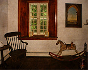 Rocking Chairs Digital Art Framed Prints - Gomez Mill House Commode Corner Framed Print by Pamela Phelps