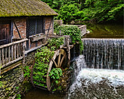 Water Mill Images Prints - Gomez Mill House The Grist Mill Print by Pamela Phelps