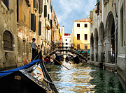 Color_image Posters - Gondola 158-Venice Poster by Jennie Breeze