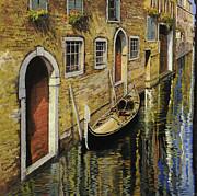 Gondola A Venezia Print by Guido Borelli