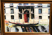 Gondola Mixed Media Framed Prints - Gondola at Rest. Framed Print by Larry Wilkinson
