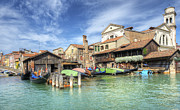 Dorsoduro Prints - Gondola Boatyard Print by Paul Woodford