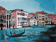 Acrylics On Canvas Paintings - Gondola by Filip Mihail