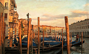 Gondolier Prints - Gondola Parking Lot 2 Print by Fraida Gutovich