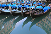 Vibrant Color Art - Gondola reflections by Matteo Colombo