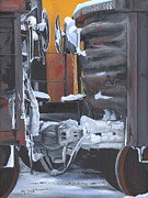 Railroads Paintings - Gondolas by Glen Frear