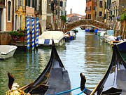 John Tidball Metal Prints - Gondolas to the Fore Metal Print by John Tidball