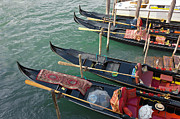 Romance Renaissance Photos - Gondolas waiting for tourists in Venice by Kiril Stanchev