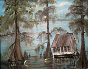 Bayous Painting Originals - Gone But Not Forgotten by Arlen Avernian Thorensen