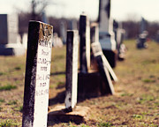 19th Century Cemetery Prints - Gone but Not Forgotten Print by Cynthia Linderbeck