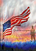 4th July Digital Art Posters - Gone But Not Forgotten Military Memorial Poster by Barbara Chichester